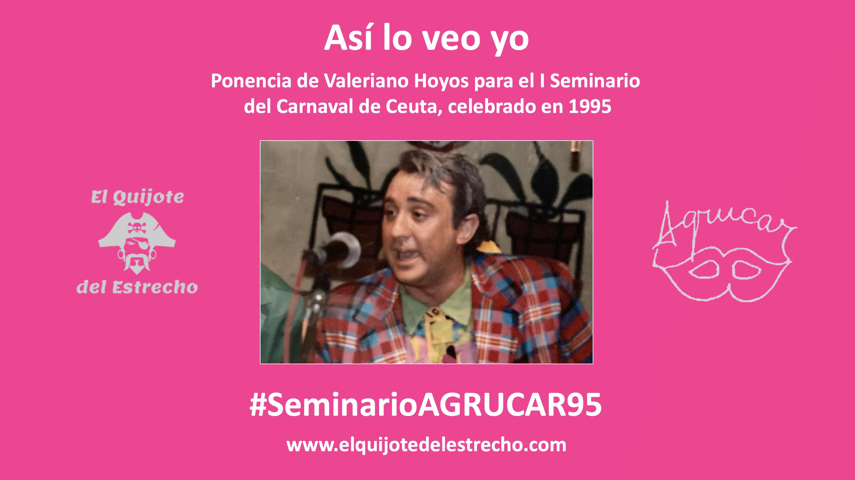 'Así lo veo yo'   Ponencia de Valeriano Hoyos para el Seminario del 95